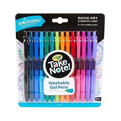 Crayola Take Note Medium Point Washable Gel Pens...