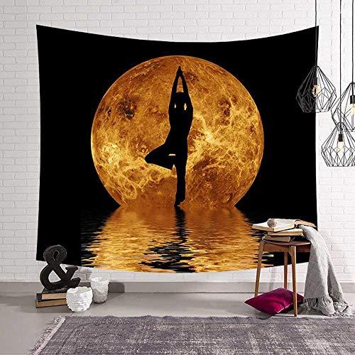 N / A Diseño impactante de la Tierra Tapiz Colgante de Pared Nebulosa Luna Elk Mandala Yoga Toalla de Playa Manta Decoración de la habitación de los niños Ropa de Cama V8 150cmx100cm
