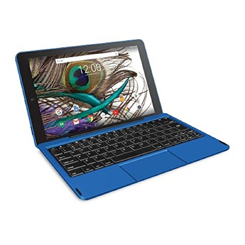 RCA Viking Pro 10' 2-in-1 Tablet 32GB Quad Core Blue Laptop Computer with Touchscreen and...