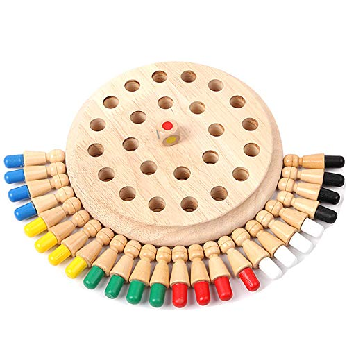 Aegilmctoys Wooden Memory Match Stick Schach Spiel, 3D-Lernspielzeug Puzzle Denkaufgabe Chess Game Educational Toys Parent-Child Interaction Early Educational Blocks Toy Birthday Gift
