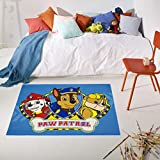Carpet Studio La Patrulla Canina Alfombra Infantil 95x133cm, Alfombras Lavables para Dormitorio & Cuarto de Jugar, Lavable a Máquina, Fácil de Limpiar, Anti-Deslizante - Paw Patrol