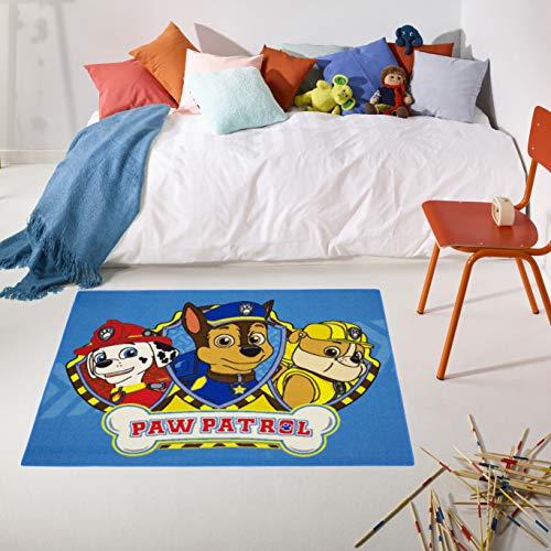 Carpet Studio PAW Patrol Kinderteppich 95x133cm, Spielteppich für Schlafzimmer, Kinderzimmer & Spielzimmer, Waschbar, Einfach zu Säubern, rutschfest - PAW Patrol