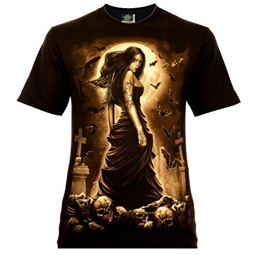 Vampire Beauty Herren T-Shirt Schwarz Gr. XL Glow in The Dark