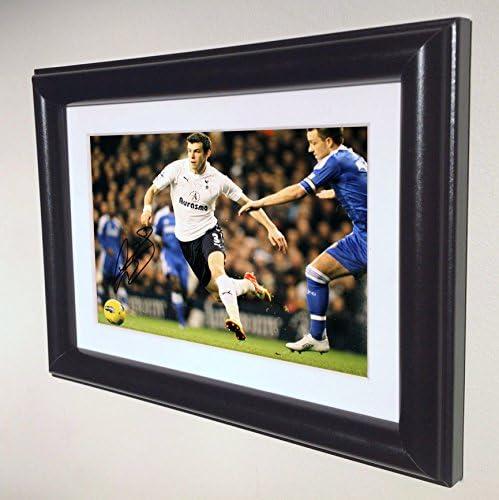 Signed Black Soccer Gareth Bale Tottenham Hotspur Spurs Autographed Photo Photograph Picture product image
