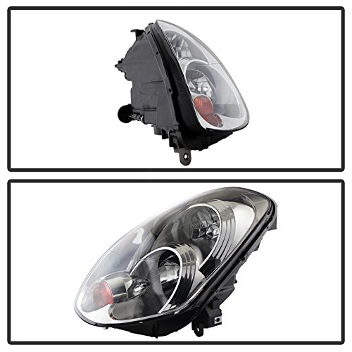 Infiniti G35 Sedan Crystal Headlights Xenon/HID Model Only ( Not Compatible With Halogen Model ) Chrome Housing With Clear Lens