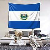 BGDFN Wandbehang Dekor für Schlafsaal, Schlafzimmer, Wohnzimmer, College, 152,4 cm B x 101,6 cm L, El Salvador Flagge