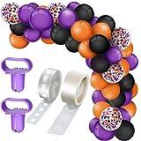Hangarone Juego de 129 globos de confeti de látex, seguros, fuertes, guirnaldas para Halloween, bodas, fiestas, decoración