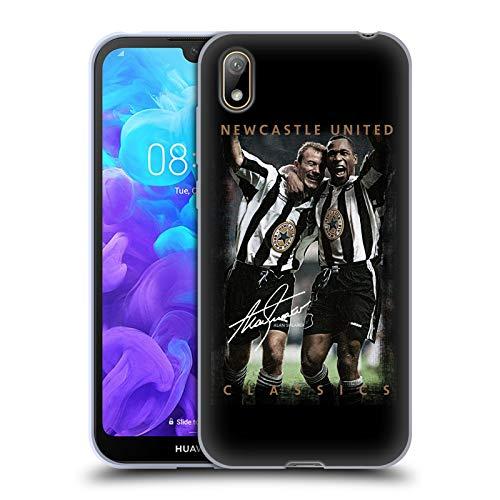 Head Case Designs Officiellt Licensierade Newcastle United FC NUFC Skärare Och Ferdinand Retro Badge Kollektion Mjuk Gel Fodral Kompatibelt med Huawei Y5 (2019)