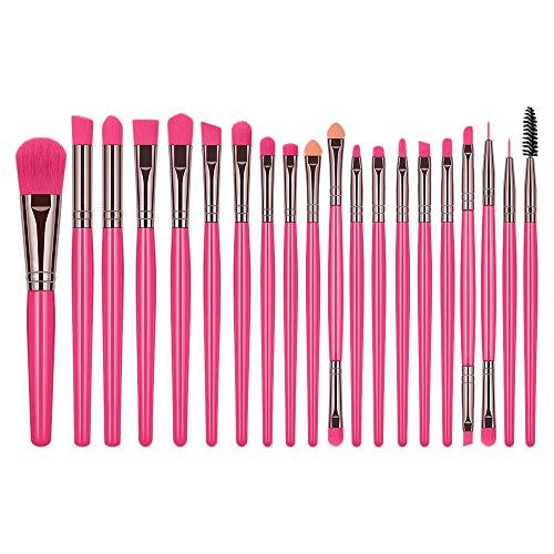 Senmubery 20 Pinceaux de Maquillage Set Fashion Fluorescent Pure Color Eye Shadow Brush Professional Makeup Beauty Brush (Fluorescent rouge)