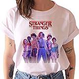Camiseta Stranger Things Niña, Camiseta Stranger Things Mujer Impresión Manga T-Shirt Abecedario Chicas Camiseta Stranger Things Camisa de Verano Regalo Camisetas y Tops (14,S)