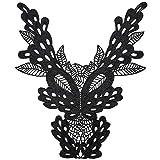 qingqingxiaowu Parches Termoadhesivos Ropa Pegatinas Ropa NiñOs Coser Insignias y Parches Apliques de Flores Parches Traseros para Chaquetas Black