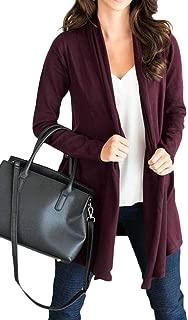 Macondoo Women's Casual Long Sleeve Coat Draped Open Front Outwear Cardigan