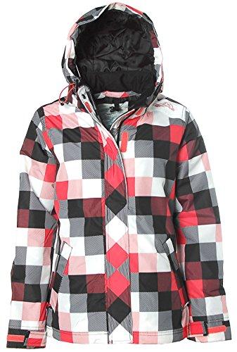 Brunotti Damen Winterjacke Skijacke Alpin Sport Jacke Snowboard Rot S