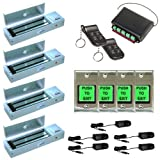 FPC-5023 Four Door Access Control outswinging Door 1200lbs Electromagnetic Lock kit with Seco-Larm Wireless Receiver and Remote kit