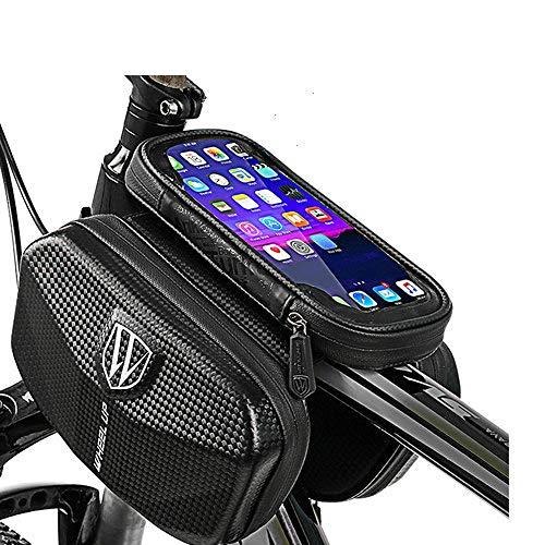 AEWB - Bolsa impermeable para bicicleta con marco frontal de tubo superior reflectante 7,0 en la funda del teléfono de la pantalla táctil de la bolsa Mtb accesorios de bicicleta, color WL04., tamaño for 6.0 inch phone