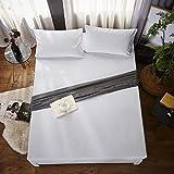 OQQE Clásico 100% algodón Protector de colchón Impermeable Dust Mites Sábana Funda de colchón para colchón Sofá Cama Toallas de Hotel, Estados Unidos, 900x2000mm