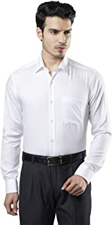 Raymond Solid White Coloured Cotton Shirt