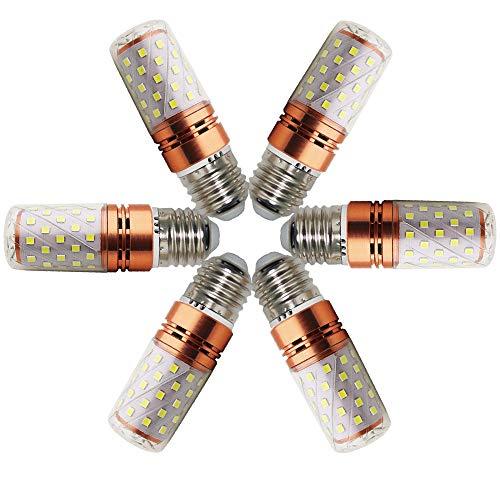 Maíz Bombilla E27 Led Blanco frío 12W 6000K 1200Lm LED Candelabros Equivalente Incandescente 120W vela Bombillas No regulables(6 Packs)