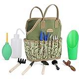 Good GAIN Kit de suculentas de jardín con bolsa organizadora, juego de herramientas de jardinería manual para interiores, 14 herramientas para bonsái jardineras en miniatura