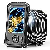 Endoscopio industrial, cámara de inspección SKYBASIC 1080P con pantalla LCD de 4,3 pulgadas endoscopio a prueba de agua de serpiente de 8 mm con 6 LED ajustables, cable semirrígido, 32 GB (5M)