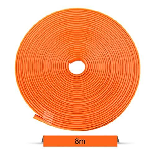 FPZHONG 8M Coche Rueda Llanta Protector Decoración Tira De Caucho Neumático Guardia Línea Rimblades Coche Estilo Moldeado Moldeado Rueda Decoración Accesorios (Color : Orange)