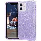 MATEPROX Funda iPhone 11,Glitter Estuche Brillante Antideslizante,Protector Cover para iPhone 11 6.1'-Púrpura