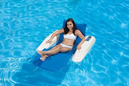 Poolmaster Swimming Pool Adjustable Floating Chaise Lounge, Rio Sun, Blue Bayou