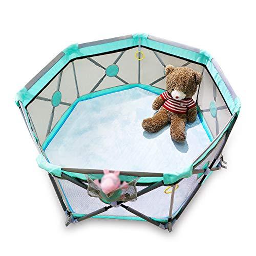 ZHUIL-Baby playpens Portable - Parc pour BéBé - Lit De Jeu SûR - Oxford Respirant - Facile à Nettoyer - Convient Aux Enfants De 0 à 6 Ans - IntéRieur Et ExtéRieur - Pliable