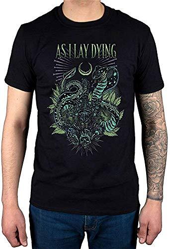 As I Lay Dying Cobra Negro ocio moda Mens camiseta