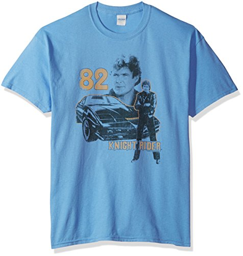 Trevco Men's Knight Rider Short Sleeve T-Shirt, Carolina Blue, X-Large
