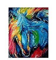 数字によるDIY絵画アクリルカラフルな動物家の装飾のための数字による手描きのオイルペイントアート40×50(フレームなし)