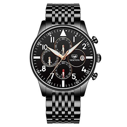 Relojes para Hombre Relojes para Hombre Relojes de Acero Moda Relojde Pulsera de Cuarzo Resistente al Agua Fecha Relojes para Hombres Relojes de Moda de Cuarzo