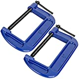 C Clamps Set, 6-Inch C Clamp Heavy Duty C Clamps for DIY Carpentry Woodwork Building (6'' 2pcs)