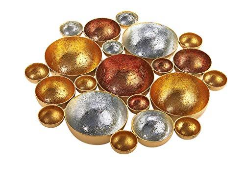 Kobolo Kerzenhalter Bubble für Teelichter in Gold und Silber D 27 cm