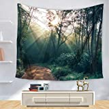 Brandless Forest Starry Tapestry Sky Jungle Vía Láctea Decoración Colgante de Pared para Dormitorio Sala de Estar Dormitorio Yoga Picnic Mat