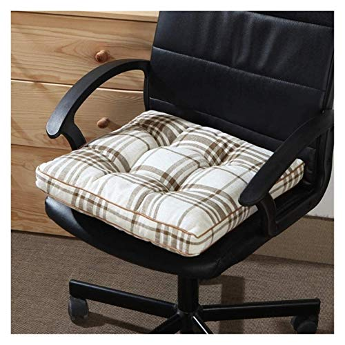 LanXin Thicken Square Seat Pads For Dining Chairs Stripe Soft Office Student Chair Cushion Four Seasons Universal Garden Seat Cushions Non-slip a (Color : B, Size : 45x45x6cm)
