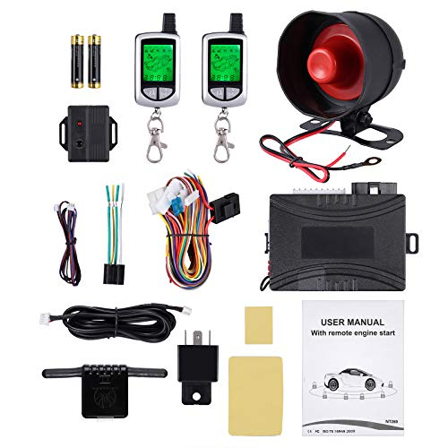 Sicherheitssystem Kit Auto Diebstahlschutz Alarmanlage Mikrowellensensor Alarm auslösen Motor Start für KfZ, LKW Auto Alarm Keyless Eintrag Sicherheitssystem
