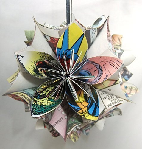 X-Men Comic Book Origami Christmas Tree Ornament Large
