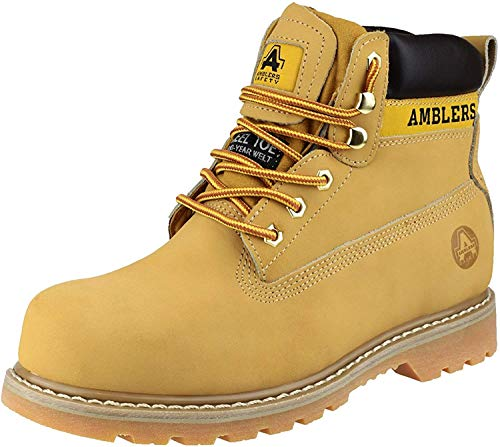Amblers FS7 Damen Stahlkappen-Schuhe/Arbeitsschuhe/Stiefel (38 EUR) (Honig)