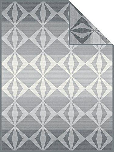 Ibena Wohndecke grau Größe 150x200 cm