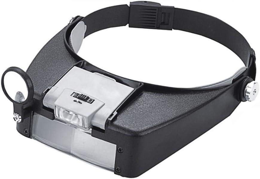 HONPHIER Head Magnifier Dual Lens Product Headband Flip Handsfree Illumi OFFer