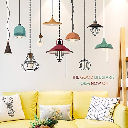 Sticker mural lustre créatif dortoir décoration chaleureuse salon chambre ampoule lampadaire