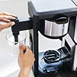 Ninja specialty fold-away frother (cm407) coffee maker, single serve to 10 cup (50 oz. ) 16 specialty brew: brew super rich coffee concentrate that you can use to create delicious lattes, macchiato, cappuccinos, and other coffeehouse style drinks iced coffee: brew fresh over ice for flavorful iced coffee that's never watered down 6 brew sizes: brew anything from a single cup or travel size to a half carafe or a full carafe in your coffee maker