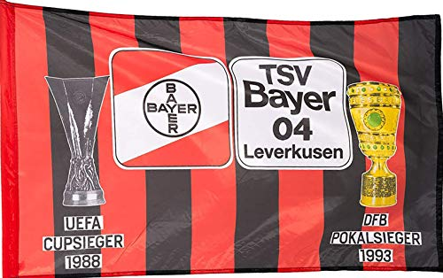 Fahne 150 x 90 Bayer Leverkusen rapeau/Bandera/Flag/Flagge