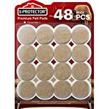 Furniture Pads Floor Protectors X-PROTECTOR Beige 48 PCS - Felt Pads for Chair