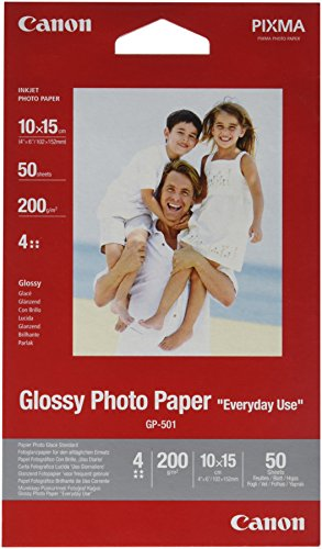Canon GP-501 Glossy Photo Paper ( 50 sheets, Glossy), 10 X 15 cm