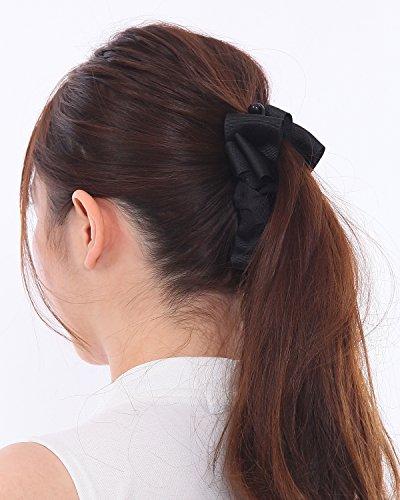 ボナバンチュール(Bonaventure)グログランふんわりリボンバナナクリップレディースヘアアクセサリーヘアクリップ人気ブランド髪留めブラック