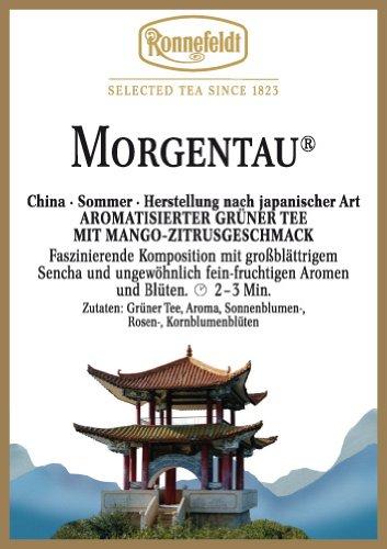 Ronnefeldt Morgentau, aromatisierter Grüntee mit Mango-Zitrusgeschmack, 10 x 100 g