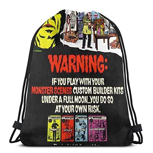 Aurora Monsters Szenen 70 'S Magazine Ad Sporttasche Gym Sack Kordelzug Rucksack für Gym Shopping