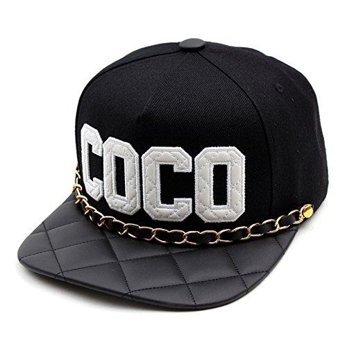CoCo Black Unisexe Hommes Femmes Snapback réglable Hip-hop Casquette de Baseball